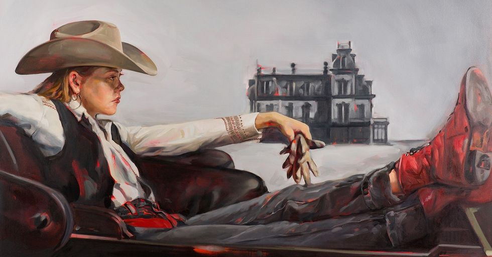An artist replaced the men in these classic Westerns with women. The images are awesome.