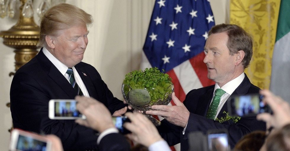 Ireland's prime minister offers Donald Trump some St. Patrick's Day advice on immigration.
