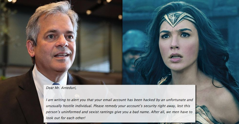 Angry about 'Wonder Woman,' a man wrote Austin's mayor a letter. Huge mistake.