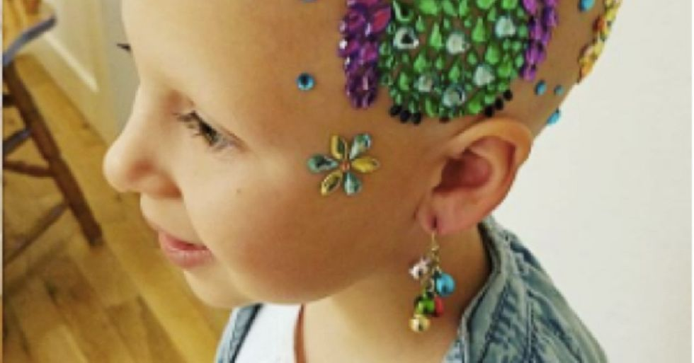 This 7-year-old recently lost her hair, but her style on Crazy Hair Day was amazing.