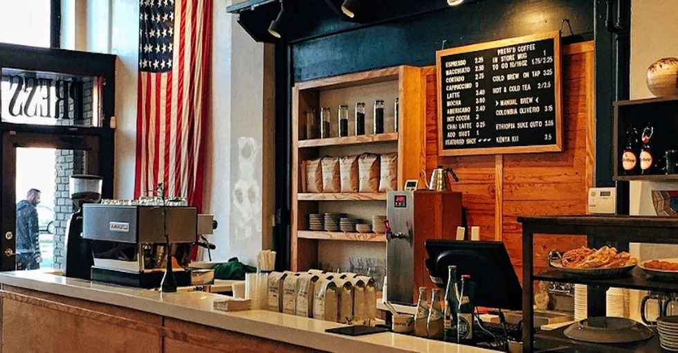 His uncomfortable experience in a coffee shop tells us a lot about race in America.