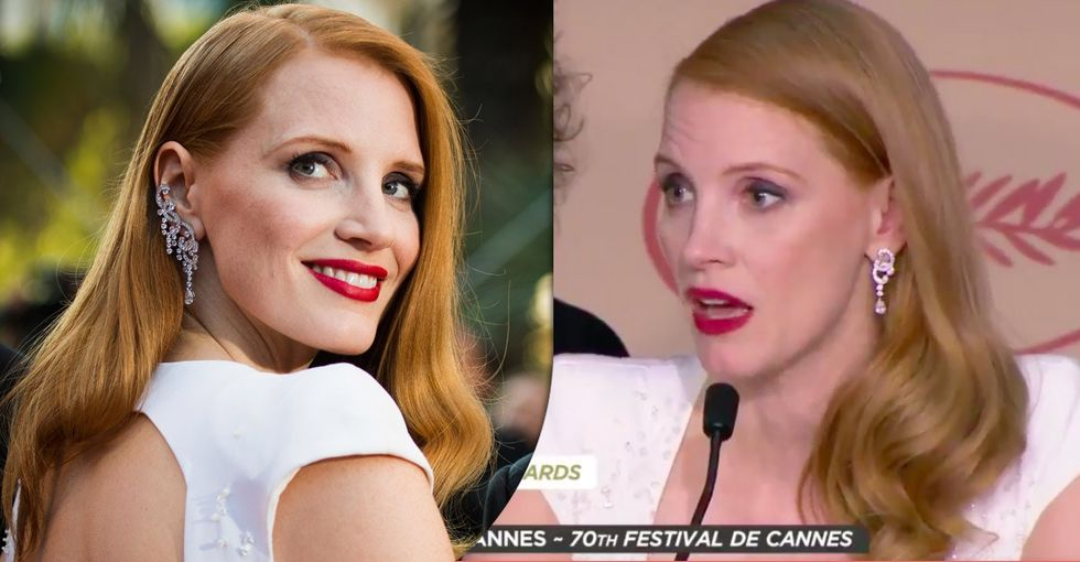 'Quite disturbing to me, to be honest': Jessica Chastain calls out sexism in film.