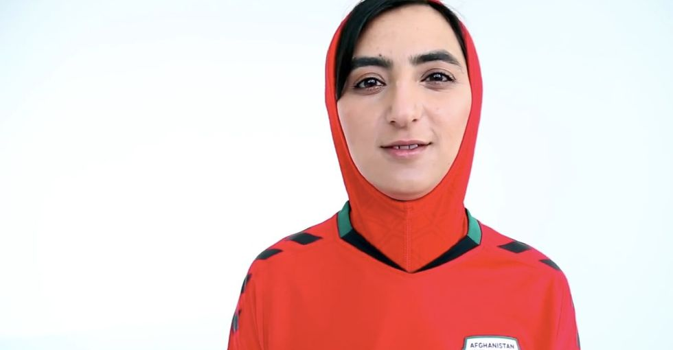 Afghanistan's women's soccer team got a one-of-a-kind uniform upgrade.