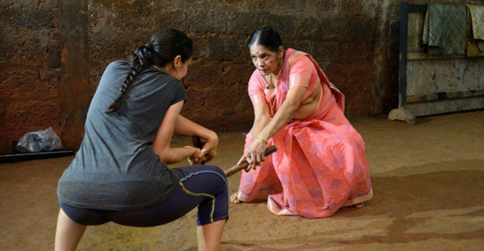 Controversial or badass? This grandma trains girls in a special form of self-defense.