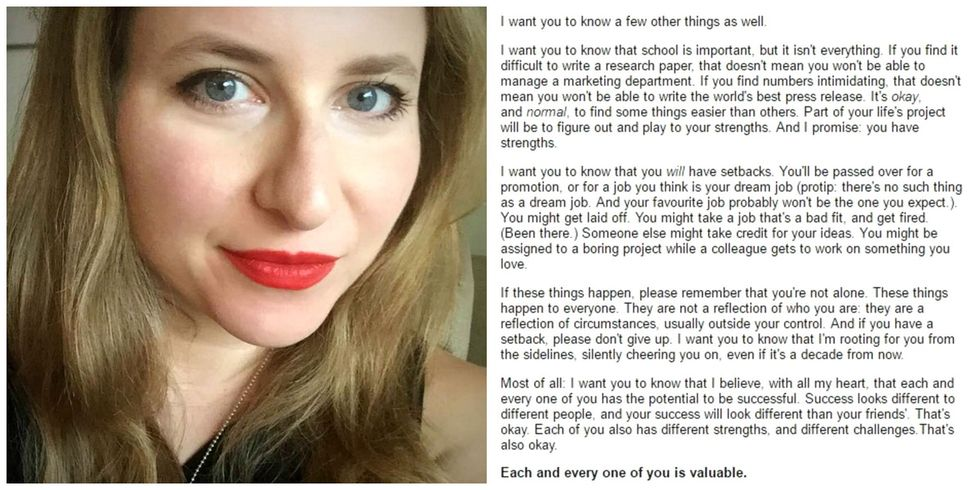 This teacher's thank-you letter to her students went viral because we all needed it.