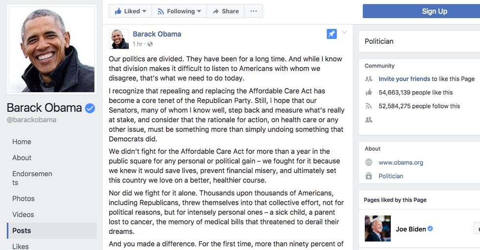Obama's message responding to the Senate health care bill is a must-read.