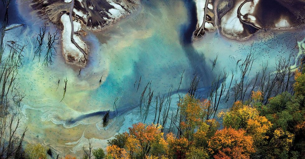 Bizarre, technicolor aerial photographs show the real effects of industry.