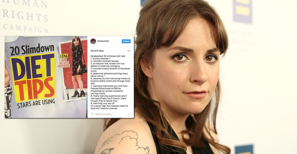 A magazine used Lena Dunham to hype 'slimdown' tips. Check out her epic response.