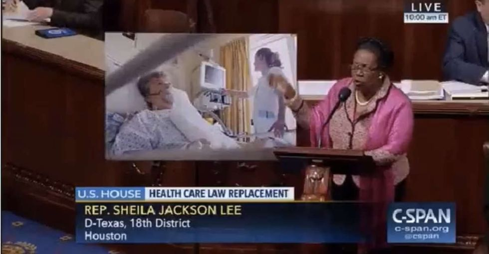 A Texas congresswoman had devastating words for her colleagues who support Trumpcare.