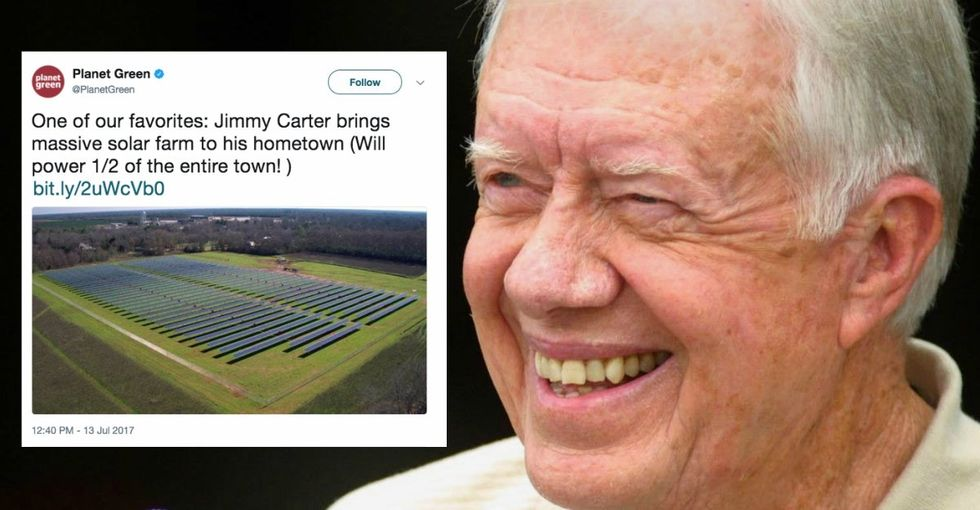 Even at age 94, Jimmy Carter's still an eco-warrior. Trump should pay attention.