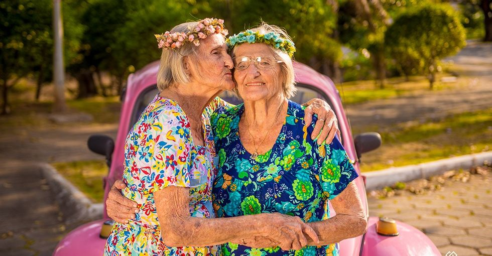 These twins celebrated their 100th birthday with a photo shoot too cute for words.