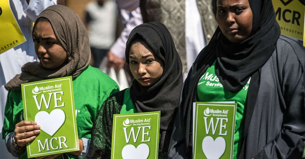 Muslims tried to stop the bombing in Manchester. As usual.