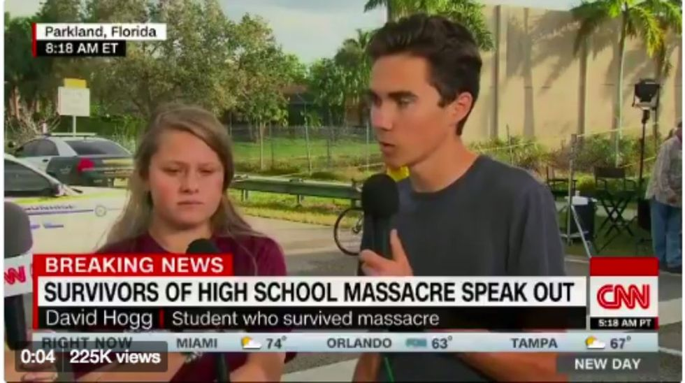 Teen school shooting survivors are sending a passionate message Washington can't ignore.