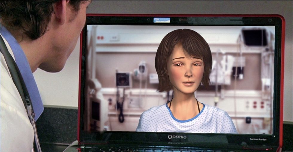 This virtual woman is very sick. Talking to her could make doctors more empathetic.