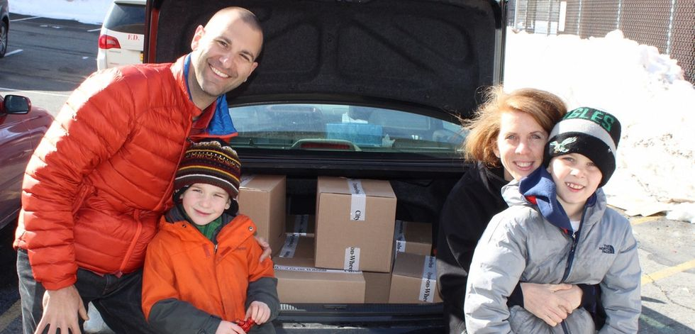 Andy and Sarah are on a mission to teach their kids the joy of helping others.