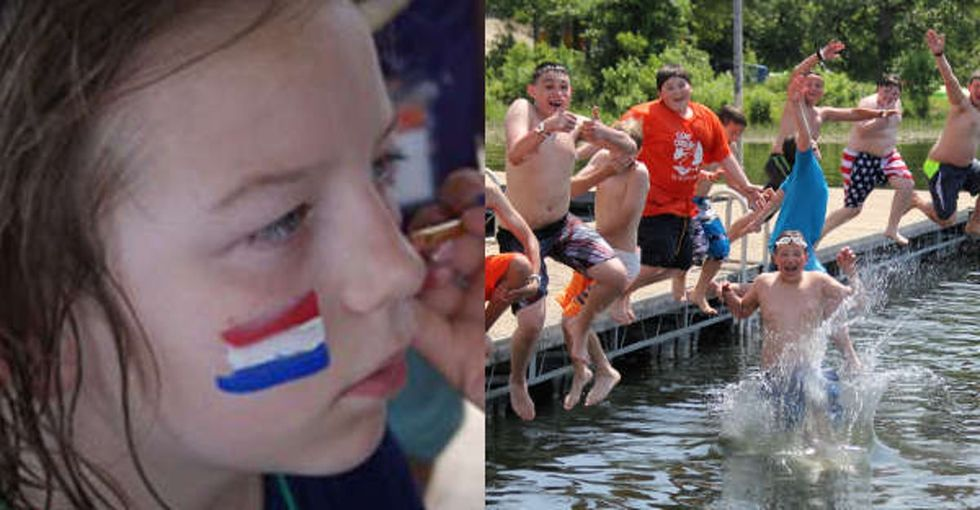 This free camp is helping military kids who've paid the highest price learn to be kids.