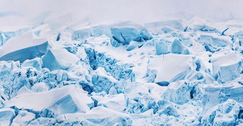 Zaria Forman's glacier drawings are cooler than cool. They're ice cold.