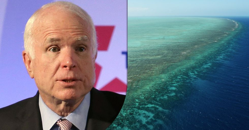 How John McCain's Great Barrier Reef comments could change hearts and minds.