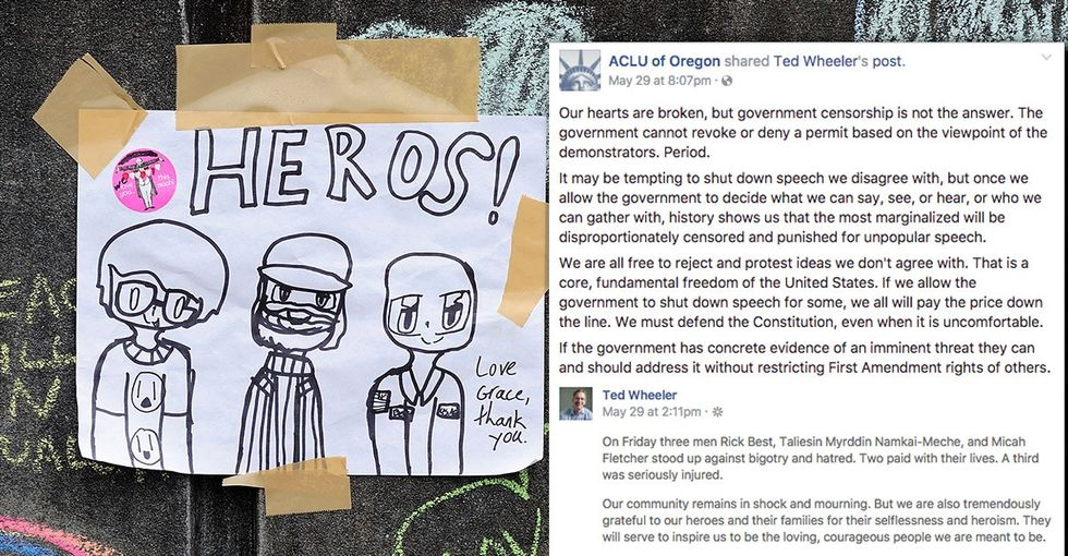 Portland's mayor took a stand against hate, but the ACLU is pushing back. Here's why.