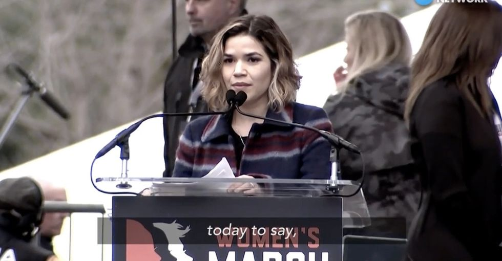 America Ferrera's speech at the Women's March sends a powerful message against hate.