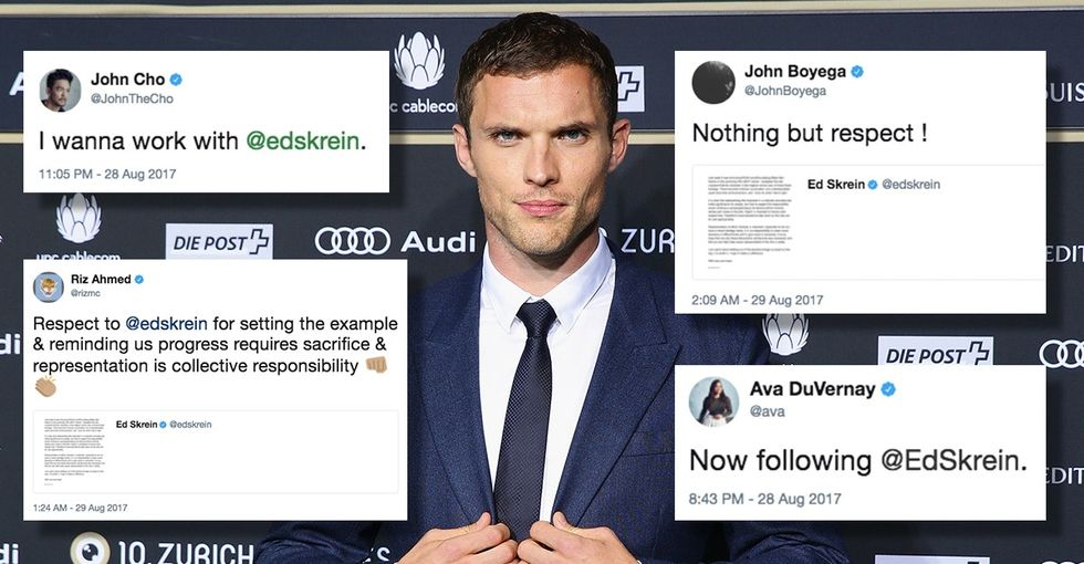 Ed Skrein got a lot of praise for dropping out of 'Hellboy' over whitewashing.