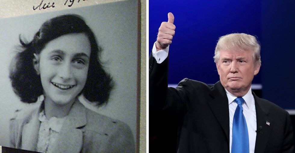 The Anne Frank Center is going after Trump for his weak condemnation of anti-Semitism.