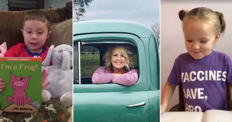 Kids affected by Harvey are sharing videos reading their favorite books. It's adorable.