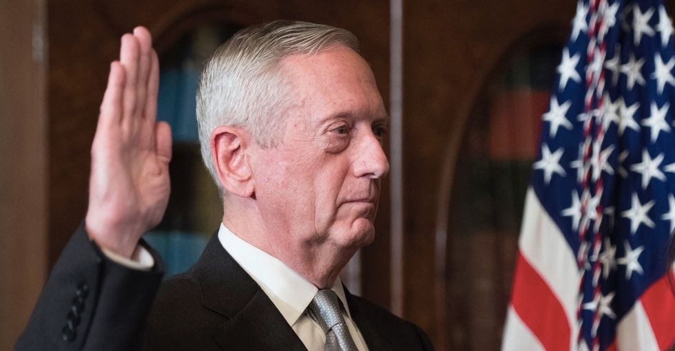 The president might not accept climate change, but the secretary of defense sure does.