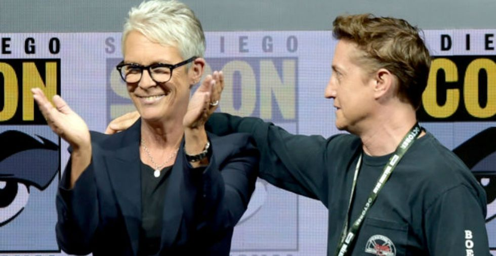 A tearful fan told Jamie Lee Curtis how her 'Halloween' character helped save his life.