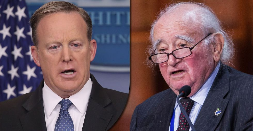This Holocaust survivor nailed why Sean Spicer's 'mistake' is a complete tragedy.