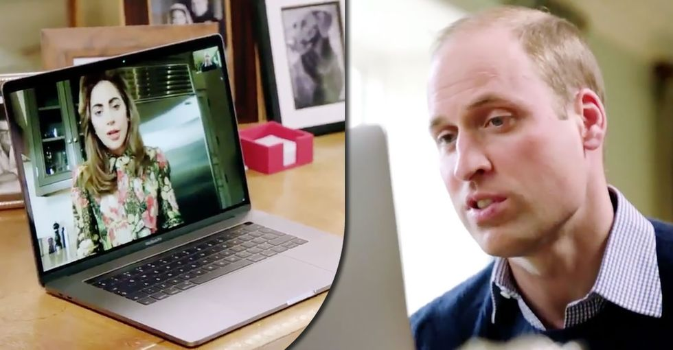 The touching reason Lady Gaga called Prince William to thank him.