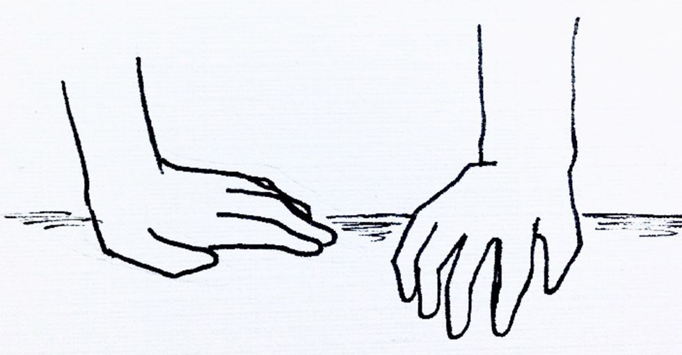 Her long-distance relationship ended, but she didn't want to forget it. So she drew it.