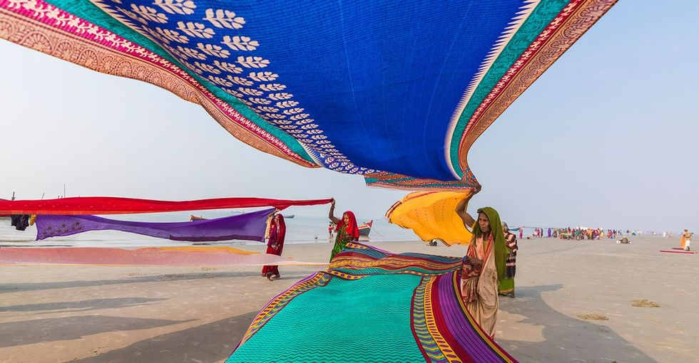 Old saris have a second use: They can protect people from a deadly bacteria in water.