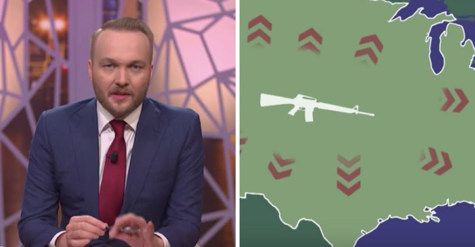A Dutch comedy show mocked America's gun 'addiction.' They left out a crucial point.