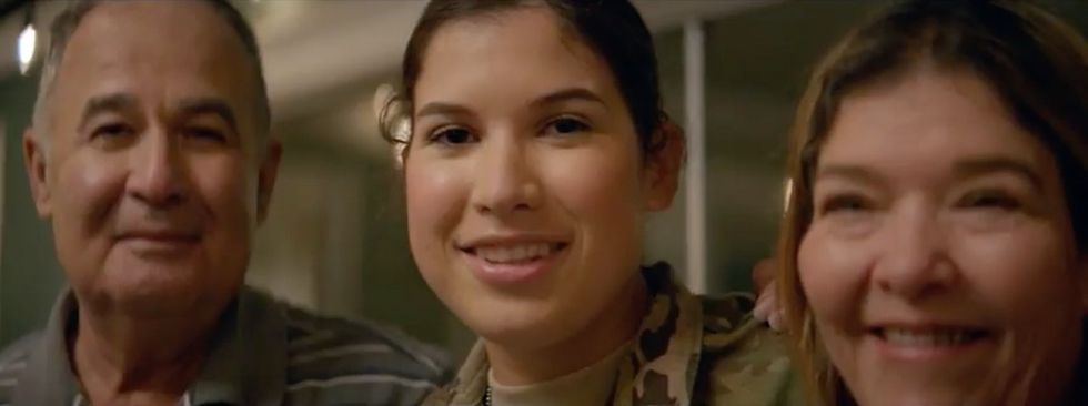 A U.S. Army soldier sent her parents a surprise for the ages, and it's pure magic.