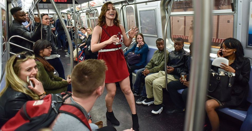 A surprise sweet 16 took place on the subway. It showed humanity at its best.