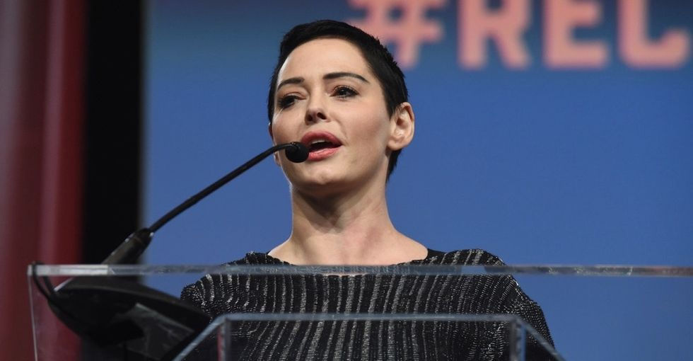Inconvenient truths about Rose McGowan and that raised fist at the Women's Convention.