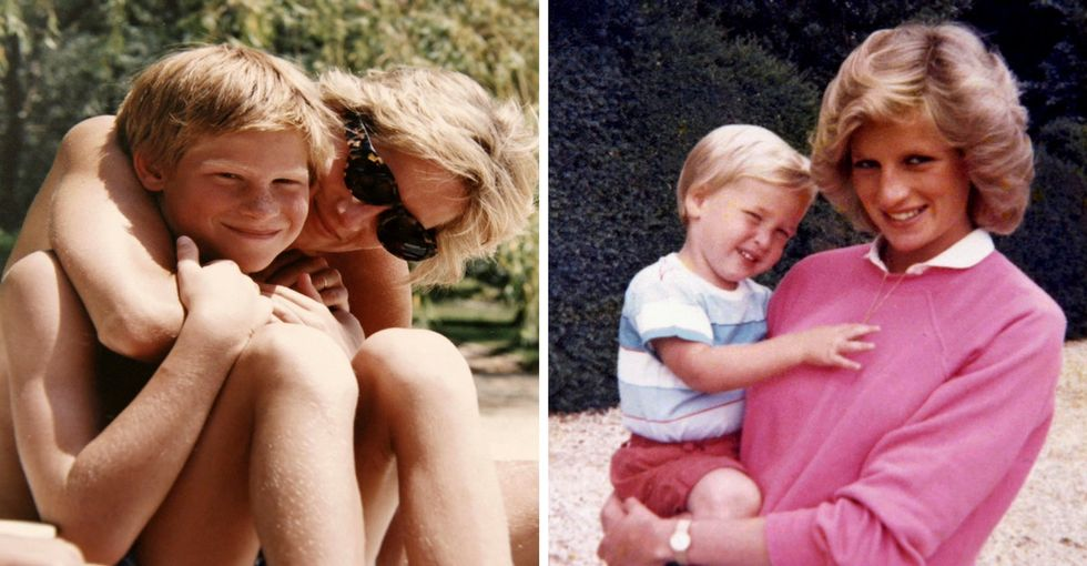 William and Harry share never-before-seen vintage pics of Princess Diana.