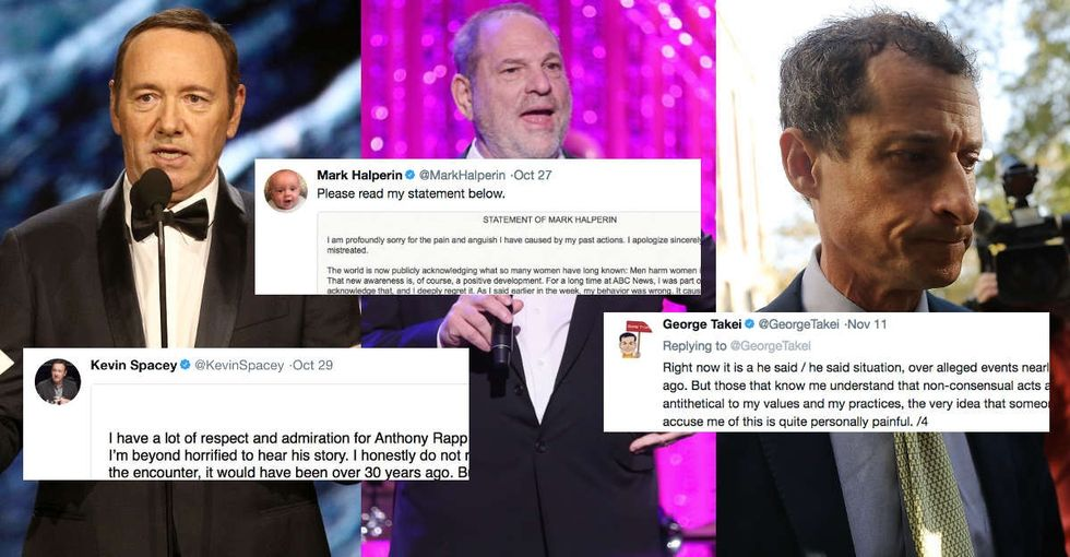 Let's break down 15 terrible excuses from accused sexual harassers and predators.
