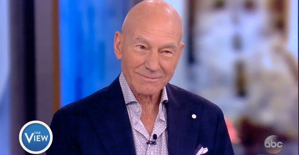 Patrick Stewart is applying for U.S. citizenship for a really great reason.