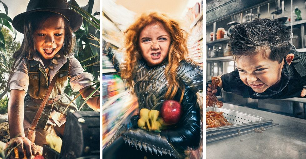 A photographer's creative approach draws attention to childhood hunger in the U.S.