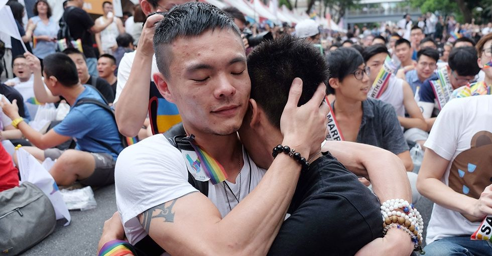 Finally, marriage equality is coming to Asia. These delightful pics say it all.