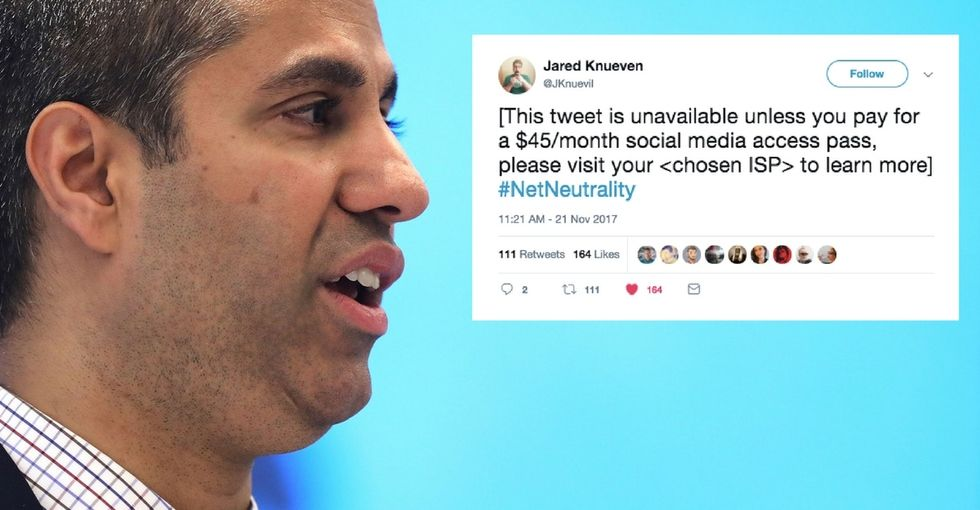 9 tweets show how wrong Trump's FCC chair is on net neutrality.