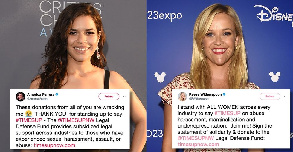 After #MeToo, these Hollywood women say 'Time's Up' for workplace harassment.