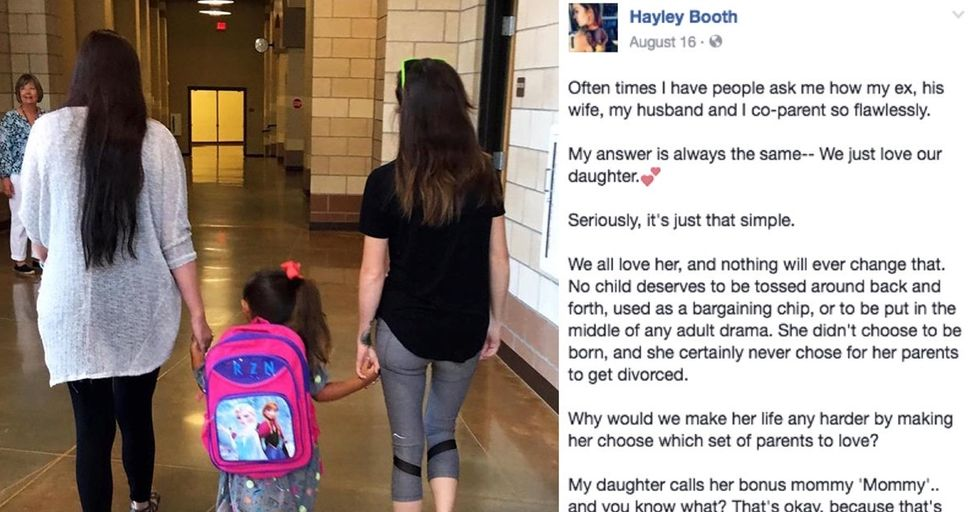 A mom's sweet photo of her daughter and her 'Bonus Mommy' is giving people hope.