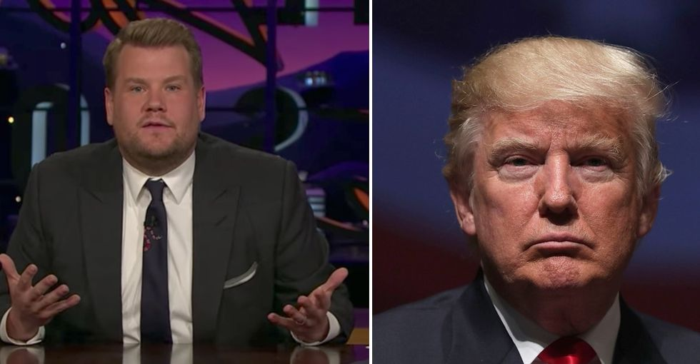 James Corden sent 297 copies of the same movie to Mar-a-Lago to educate Trump about HIV.