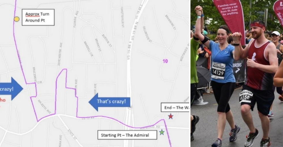 Why is this 5K race route so confusing? Because it was drawn by politicians.