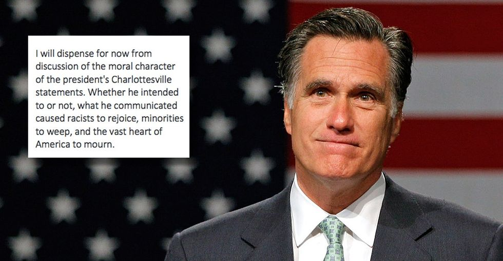 Romney's response to Trump's white supremacist comments is essential reading.