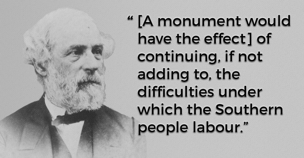 Even this Confederate general thought monuments were a bad idea. His reasons make sense.