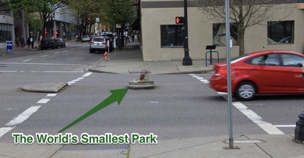 The story behind the World's Smallest Park is even more delightful than you'd expect.